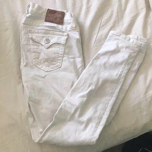 Sz. 27 TrueReligion White Jeans
